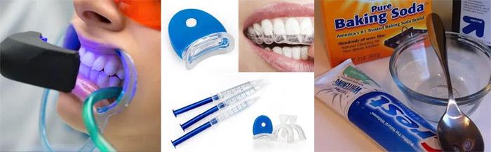 Métodos para blanquear los dientes