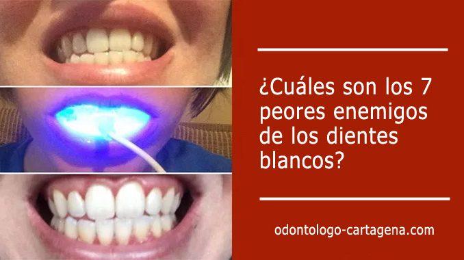 enemigos que te impiden tener dientes blancos