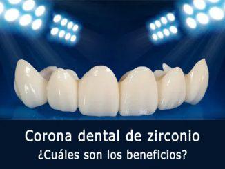 Corona dental de zirconio