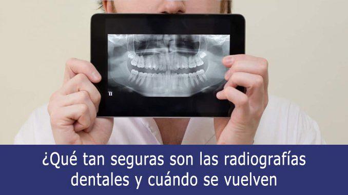Qué tan seguras son las radiografías dentales
