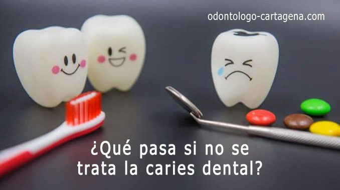 Que pasa si no trata caries dental