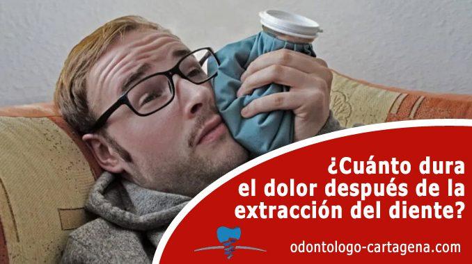 ¿Cuánto dura el dolor después de la extracción del diente?